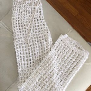 Fishnet swimsuit cover-up pants